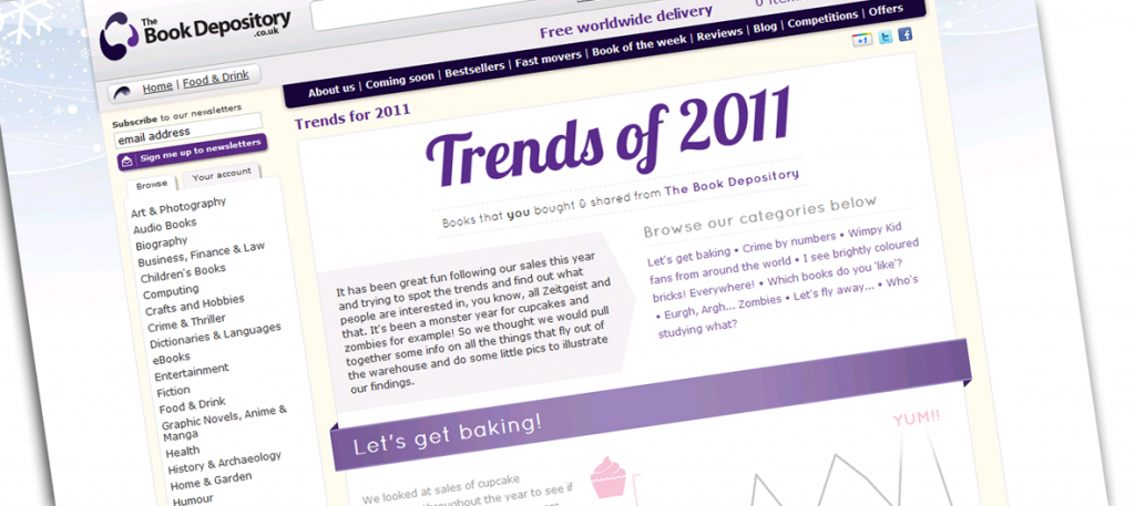 The Book Depository - Trends for 2011
